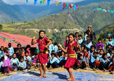 Performances at the Shree Saraswoti basic school