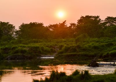 Sunset in Chitwan