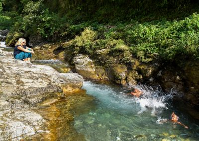 After the monsoon the rivers are great for swimming