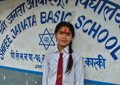 Back at Shree Janata Basic School