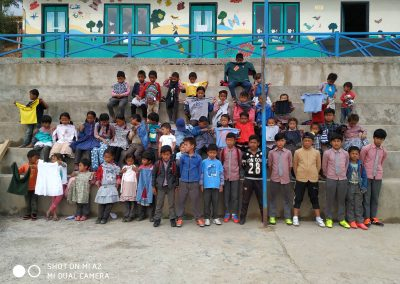 Nurbuling school kids with their new clothes