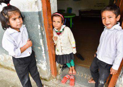 Suweta, Ritika and Anjun in class 1