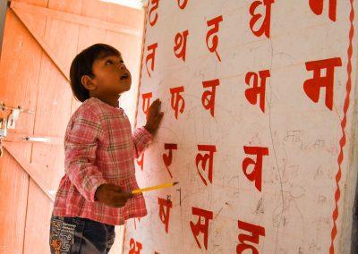Teaching the Nepali alphabet