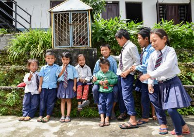 Visit to a school in Sarangkot