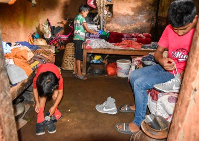 They all loved their new shoes and clothes. Thank you friends who sent them over with me