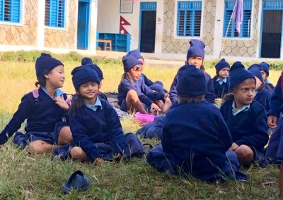 Pame kids in their new winter uniforms
